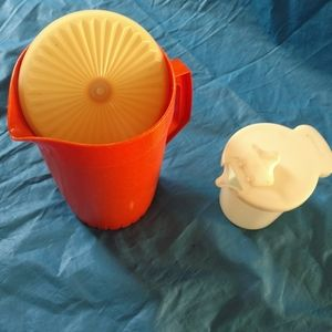 Tupperware pitcher and creamer